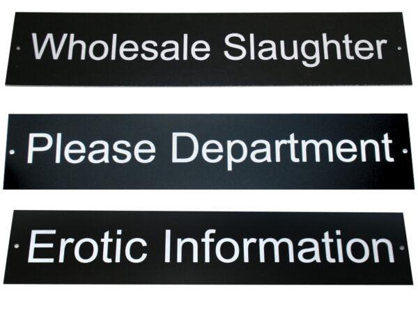 Ethan Crenson Door Signs